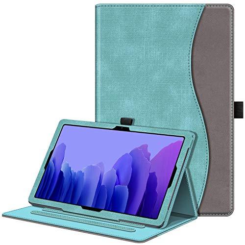Fintie Hülle für Samsung Galaxy Tab A7 10,4 2020, Multi-Winkel Betrachtung Folio Schutzhülle mit Auto Schlaf/Wach, Dokumentschlitze für Galaxy Tab A7 10.4 Zoll SM-T500/T505/T507, Türkis