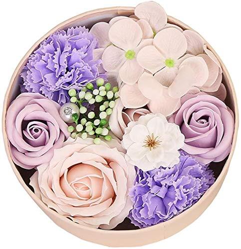 Savon Rose Fleur Cadeau - Accueil Alimentation décoration florale à la main Savon de fleurs artificielles Fête des Mères Rose 16.2cm * 16.2cm * 8.2cm / Rouge, Taille: 16.2cm * 16.2cm * 8.2cm, Couleur: