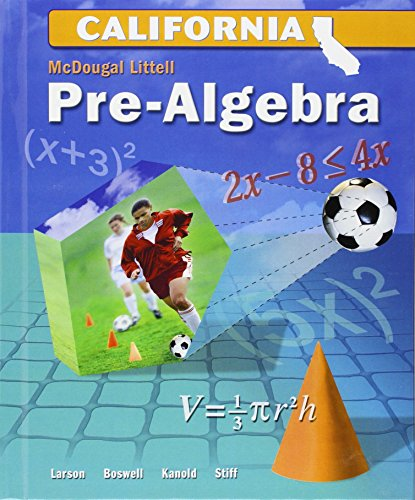 McDougal Littell Middle School Math: Student Edition Pre-Algebra 2008