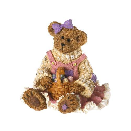 Enesco Boyds Resin Bear with Bunny Basket F Figurine, 3.28-Inch