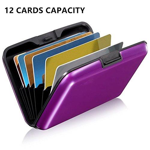 CLEVER BEAR RFID-blockierende Geldbörse, wasserdicht, 12 Fächer, Aluminium, für Visitenkarten, Kreditkarten