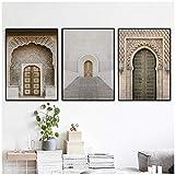 xwwnzdq Portal Tür Wandkunst Leinwand Marokko Poster Und