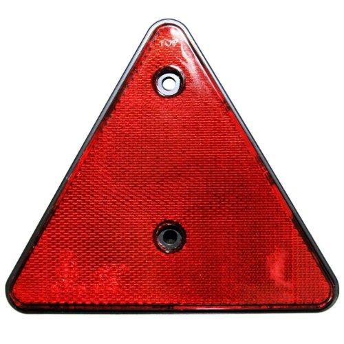 2er SET Rückstrahler Dreieck ROT e-geprüft Hänger Trailer Reflektor links rechts