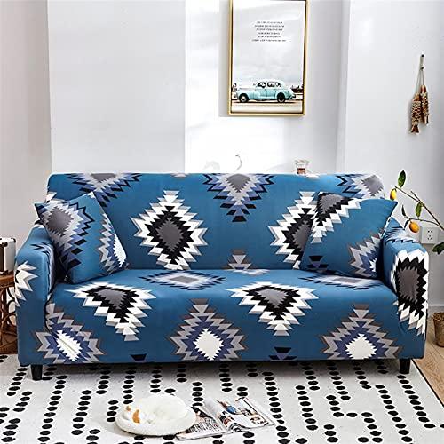 ZFDM Gedrucktes Sofa-Cover für Wohnzimmer Universal-Sektion Slipcover 13/3/3/4 Sitzer-Stretchcouch-Couch-Abdeckung für Wohnzimmer (Color : K723, Specification : 4 Seat 230 300cm)