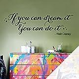 Adesivo da parete in vinile con citazione 'If you can dream...