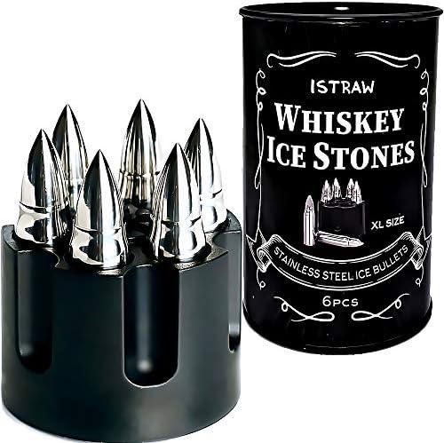 Bullet Shaped Metal Whiskey Stones Gift Set for Men Bullet Whiskey Stone Whiskey Bullets Gift product image