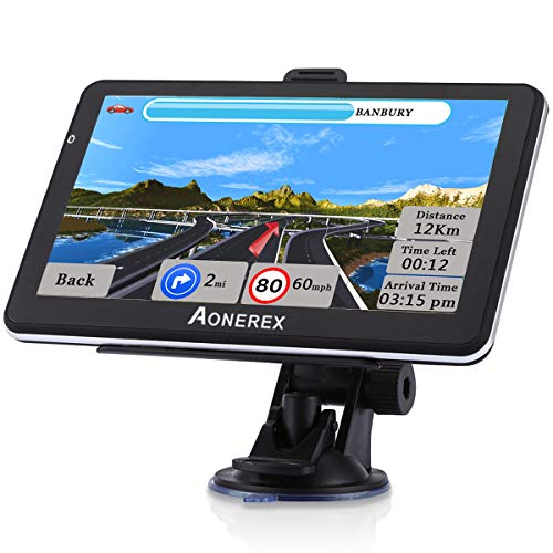 touchscreen with gps GPS Navigation for Car Truck 7 Inch Touch Screen Voice Navigation Vehicle GPS for Car HGV, Speeding Warning, 2021 Maps, Free Lifetime Maps Update of USA Canada Mexico
