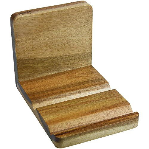 Jamie Oliver Rezeptbuch- oder Tablet Ständer, Akazienholz, Braun, 18 x 12.5 x 13 cm