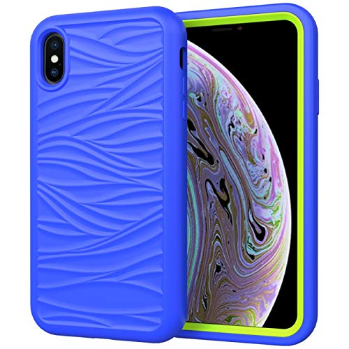 ZHANGYOUDE Para iPhone del Modelo X (Color : Blue+Olivine)