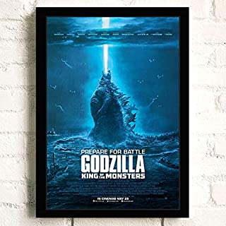 Godzilla 2019 King of The Monsters Movie Poster Prints Wall Art Decor Unframed,Multiple Patterns Available,16x12 24x16 32x22 Inches