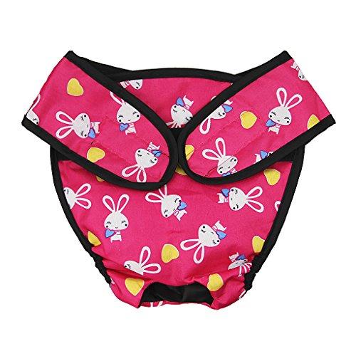 Läufig Pant,Hygieneunterhose,Haustier weibliche Hund Goldene Satsuma Sanitär Windel Physiologische Unterwäche Bunt Mehrfarbig Pink1 L
