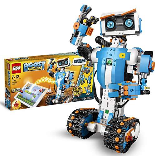 LEGOBOOSTToolboxCreativa,KitdiRoboticaperRagazzi,ModellodaCostruire5in1ControllatoviaAppconRobotGiocattoloInterattivoProgrammabileeHubBluetooth,SetdiCodifica,17101