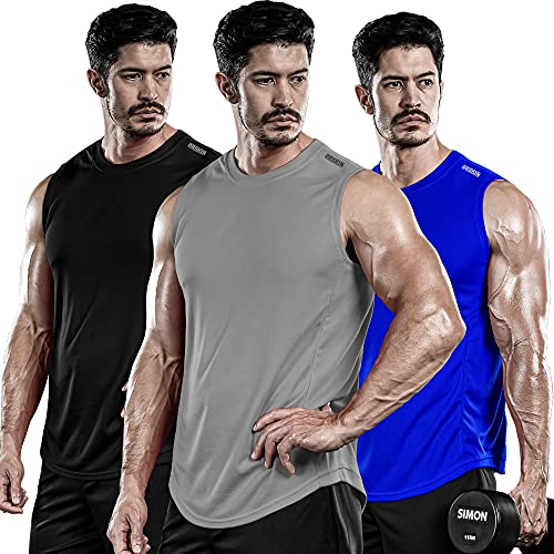DRSKIN Men's 3 Pack Dry Fit Muscle …