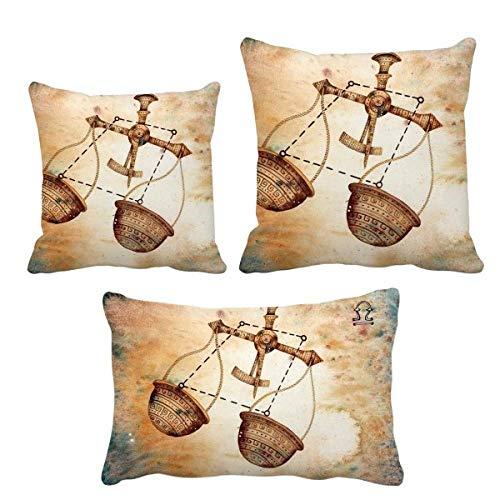 DIYthinker Wrzesień październik waga konstelacja zodiak poduszki ozdobne zestaw wkładka poszewka na poduszkę dom sofa dekoracja prezent