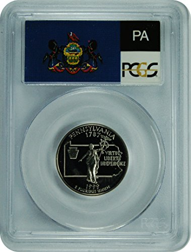 1999 S Pennsylvania Statehood Pennsylvania Statehood Quarter DCAM PCGS PR-69
