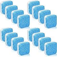 16 Piezas Limpiador Sólido de Lavadora Tableta Efervescente Removedor de Limpieza Profunda con Descontaminación Triple para Baño Habitación Cocina