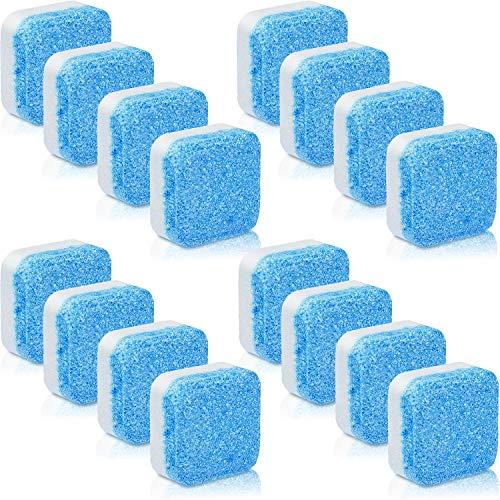 16 Stück Solide Reiniger Tablette Waschmaschinenreiniger Brausetabletten Waschmaschinenreiniger Tiefenreinigung Entferner mit Dreifacher Dekontamination für Bad Küche