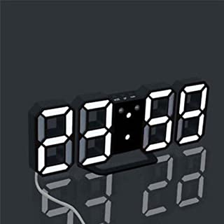 Digital LED Clock,Han Shi Fashion Modern Night Wall Table Desk USB Alarm Watch Clock