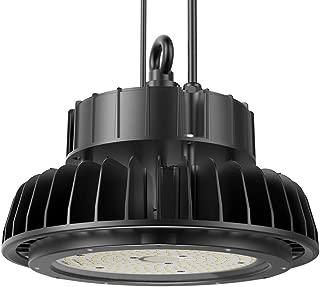 Adiding LED High Bay Light,200W UFO Hi-Bay Lighting 130Lm/W LIFUD Driver Dimmable 26,000 Lumens 5000K, Samsung LED for Garage Gym Workshop Warehouse,DLC ETL Listed (Rotatable Bracket)