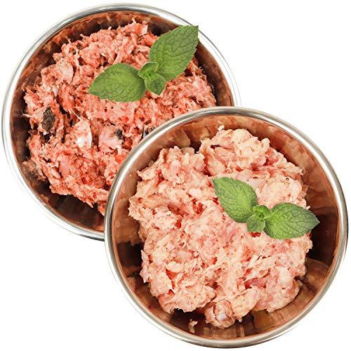 Barf-Snack biologisch artgerechtes Rohfleisch - Sparpaket Pute & Fisch 28kg gesundes Barf-Frostfutter für Hunde & Katzen