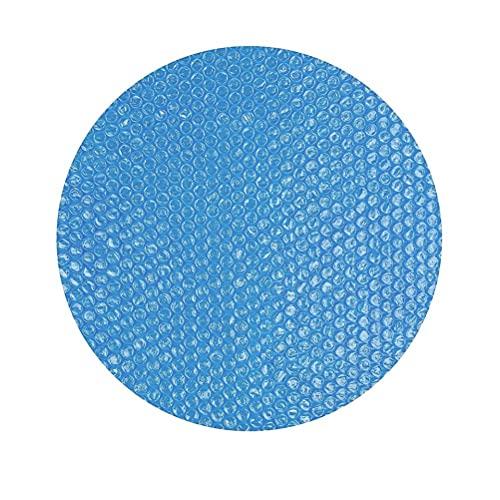 Hidyliu Cubierta solar para piscina 10 pies plegable redonda azul paños calentador cubierta protectora para interior exterior marco sobre el suelo piscinas jardines hogar Lazy Spa Hot Tub