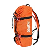UBOWAY Rock Climbing Rope Bag Mountaineering Shoulder Backpack for Climbing, Hiking, Trekking (Orange)