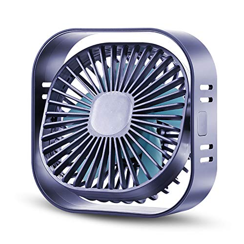 usb small fan mini 360 ° Rotation Adjustment student portable fan desk silent air fans Three-speed Adjustable big wind cooling quiet children desktop fan computer fan 12×11.8×4.3CM (Pink)