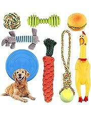 Juego de Juguetes para Perros,Grupo de Juguetes para Perros Durable Masticable Cuerda Grupo de Juguete, Algodón Cuerda Juguete para Cachorros para Limpiar los Dientes Adecuado