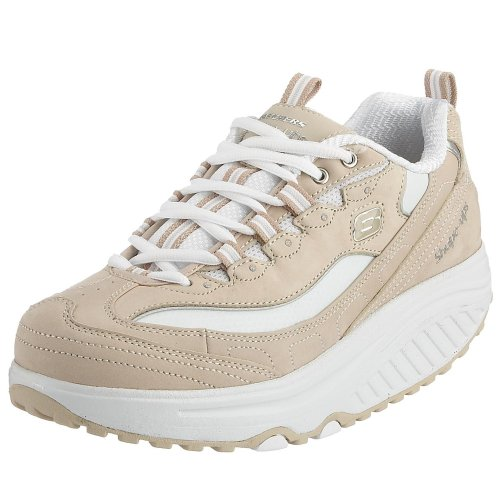 Skechers Women's Shape Ups Metabolize Fitness Work Out Sneaker,Natural/White,7.5 M US
