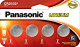 Panasonic CR2032 3.0 Volt Long Lasting Lithium Coin Cell Batteries in Child Resistant, Standards Based Packaging, 4 Pack