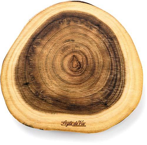Style de Vie Serveerplank, Acaciahout, Rond klein, Geschikt voor borrel, tapas of als broodplank, Behandeld met natuurlijk olie