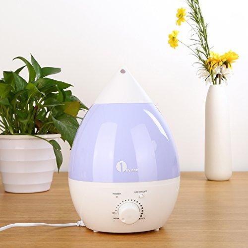 1 BY ONE Umidificatore Ultrasuoni Ionizzatore 2,8 L, Nebbia Fredda, Silenzioso e con 7 Colori LED, Funzione di Auto Spegnimento