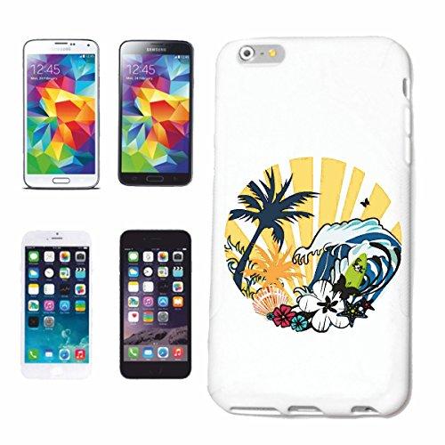 Reifen-Markt Hard Cover - Funda para teléfono móvil Compatible con Samsung Galaxy S6 Paradise Beach Surf Surf Longboard Olas de Surf Beginner Shop