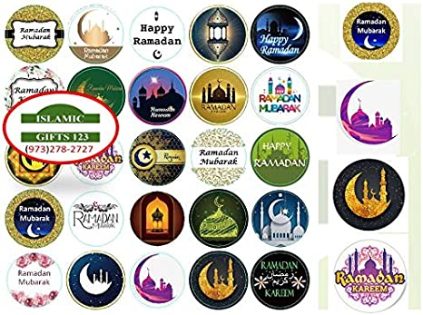 Ramadan Mubarak Stickers Label Gift Religious Festival Islamic 12 Asst Pieces