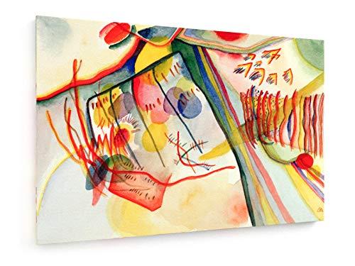 weewado Wassily Kandinsky - Komposition 60x40 cm Leinwandbild auf Keilrahmen - Wandbild, Poster, Kunst, Gemälde, Foto, Bild auf Leinwand - Alte Meister/Museum
