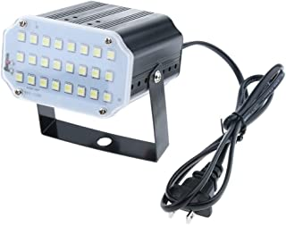 F Fityle 24 LEDs Strobe White Light, Mini Portable Powerful Party Light, Sound Activated Flash Stage Speed Control for Bir...