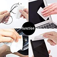 YANHUA 50pcs Set Glasses Cleaner Wet Wipes Tissue Eyewear Cleaning Dust Remove Computer Phone Screen Wiping Tools Disposable