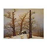 Poster - Caspar David Friedrich Hünengrab im Schnee 80x60