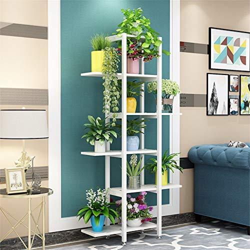 ChenDz Ménage Vert Plateau De Fleurs En Fer Forgé Salon Salle Rack Intégré Simple Étage Multi-niveau Balcon Bonsaï Style Européen