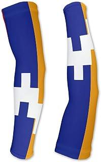 Nagorno-Karabakh Republic Flag Compression Arm Sleeves UV Protection Unisex - Walking - Cycling - Running - Golf - Baseball - Basketball
