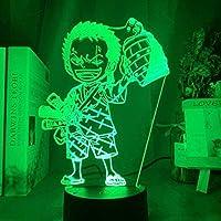 giyiohok16色スマートナイトライト子供用3D素敵なかわいい女の子USB充電タッチリモコン付き男の子と女の子のための誕生日プレゼント-n1-n6