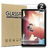 2xHuawei MediaPad M5 Lite LTE(10,1 Zoll) Bildschirmschutzfolie,Ash-case HD Ultra-klar Anti-Kratz Anti-Fingerabdruck Bildschirmschutzfolie Glas Panzerglas, Ro&ed Corners 2.5D, 9H Festigkeit