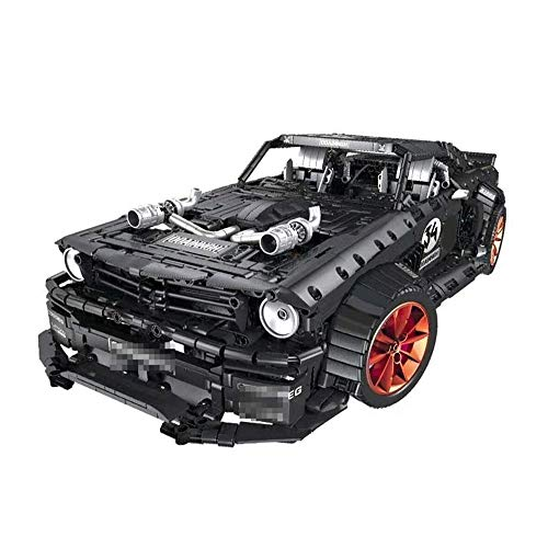 QXF-D 1:10 Automodell Bausteine Sportwagen BAU Set Kompatibel Mit Ziegeln for Kinder Teenager Erwachsene, 3168 Ziegelsteine