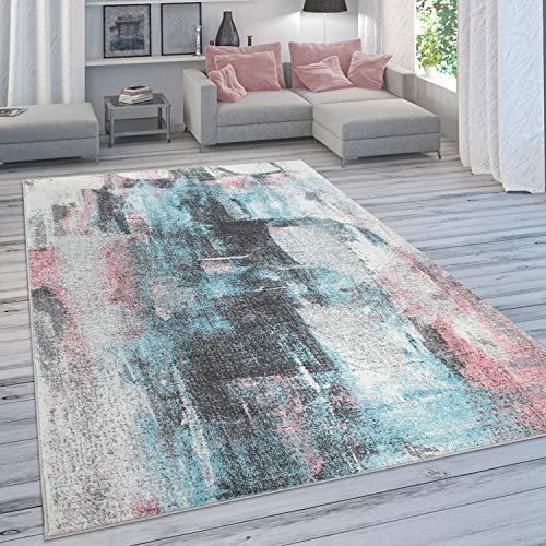 Paco Home Designer-Teppich Für Wohnzimmer, Pastellfarben, Farbverläufe, Abstrakt In Bunt, Grösse:200x280 cm