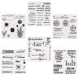 ESHOWEE Silikonstempel Deutsche Texte Set,6 Blätter Deutsch Stempel Silikon Set,Clear Stamps für...