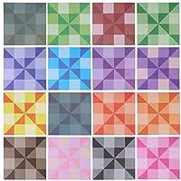 EXCEART 144ピース折り紙紙折りたたみ紙カラフルな折り紙スクエアシート用diyアートクラフトアクセサリー