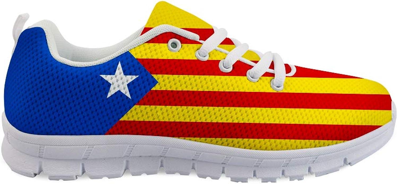 Owaheson Lace-up Sneaker Training shoes Mens Womens Catalonia Estelada Flag