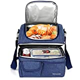 Kasimir 17L Picknicktaschen Doppelschicht Kühltasche Kühlkorb Picknicktasche Faltbare Isoliertasche Lunchtasche Mittagessen Tasche Thermotasche Isoliertasche für Lebensmitteltransport