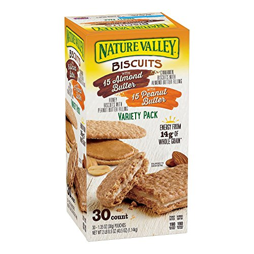 Nature Valley Biscuit Sandwich Almond Butter amp Peanut Butter  30 ct
