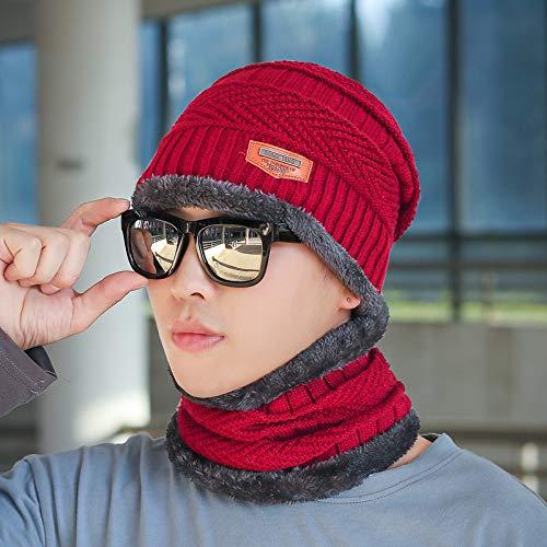 Xme Winter-Latzhut sowie warme Strickmütze aus Samt und Winter-Herren-Kopfbedeckung